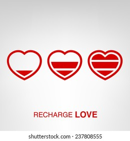 Love charger - creative Valentines Day heart concept