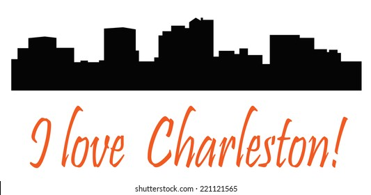 I love Charleston! city silhouette