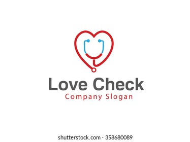 Love Check Design Illustration