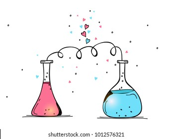 Love Chemistry Banners. Happy Valentine's Day