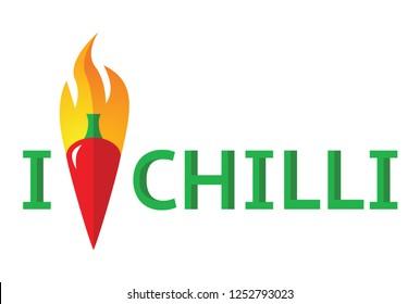 I Love Chilli with chilli illustration