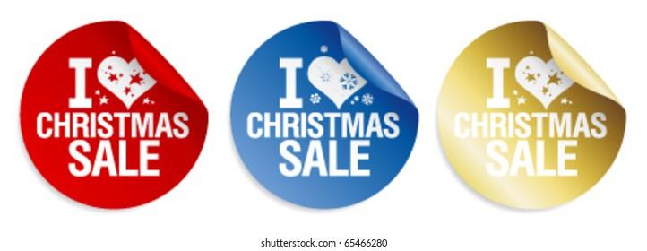 I love Christmas sale stickers set.