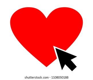 Love Click Illustartion Vector