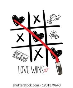 Love concept design for fashion graphics, t shirt prints, posters etc