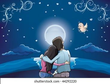 Love Couple horizon