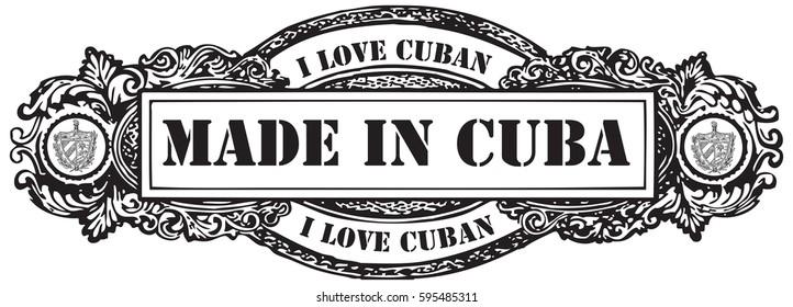 I love Cuban, stamp Made in Cuba.