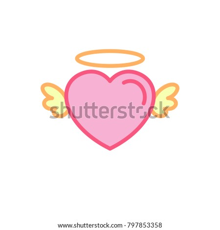 Fairy Wing Template | Love Cute Fairy Wing Icon Simple Stock Vector Royalty Free
