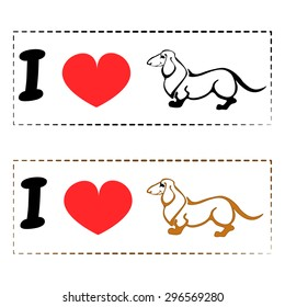I love Dachshund - simple logo for those who loves this beautiful small dog.