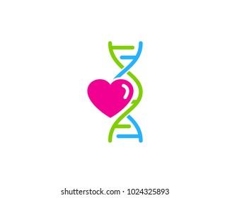 Love Dna Icon Logo Design Element