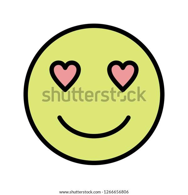 Love Emoji Vector Icon Sign Icon Stock Vector (Royalty Free