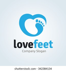 Love Feet Logo Template