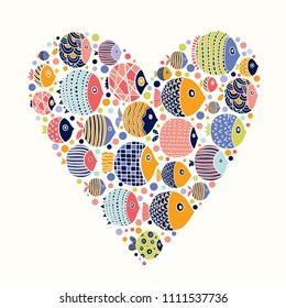 Love fish. Cute sea motif.
