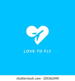 Love to fly symbol