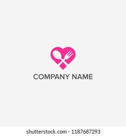Love food logo design