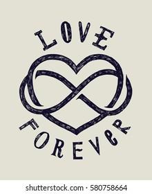 love forever grunge sign card