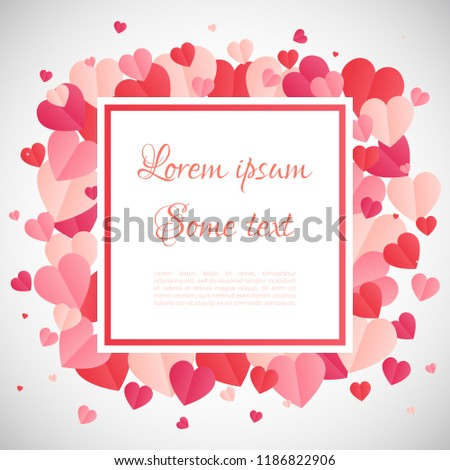 Love Frame White Frame On Abstract Stock Vector (Royalty Free ...