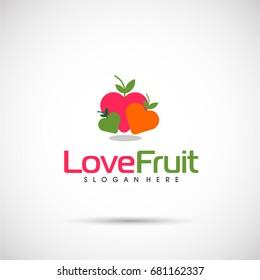 Love Fruit Logo Template. Letter TL. Vector Illustration Eps.10