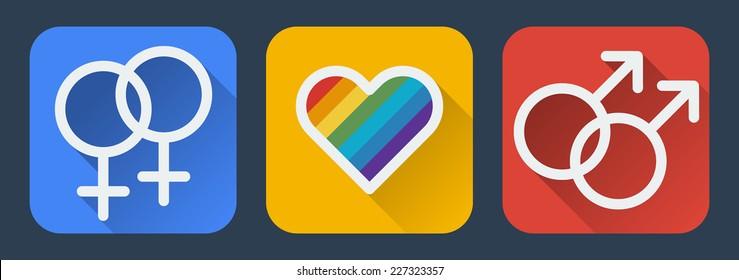 Love gay flat icon.Vector illustration