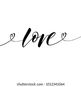 Love Greeting Card Template With The Word Love In Black And White Colors Valentines