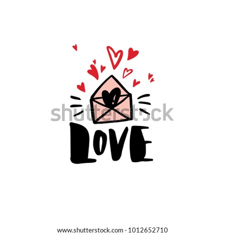 greeting card template with the word love valentines day greeting card in modern