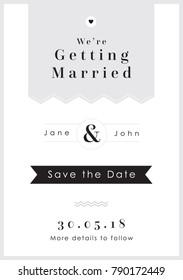 Love Grey Tag theme - Wedding Set - Save the Date