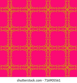 love grid gold on pink