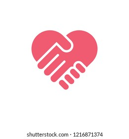 love hand care symbol vector
