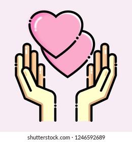 love, hand, valentines day