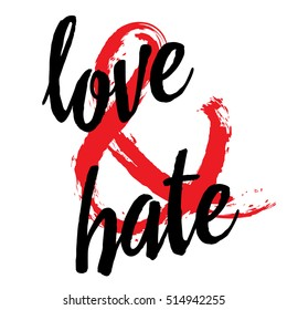 Love and hate. Ampersand