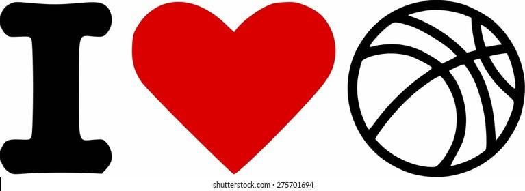 i Love heart Basketball Icon