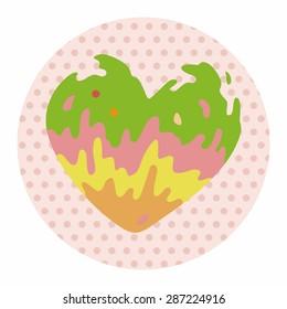 love heart cartoon elements vector,eps