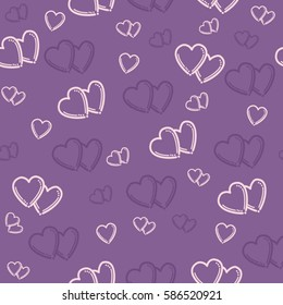 Love heart decorative seamless pattern.