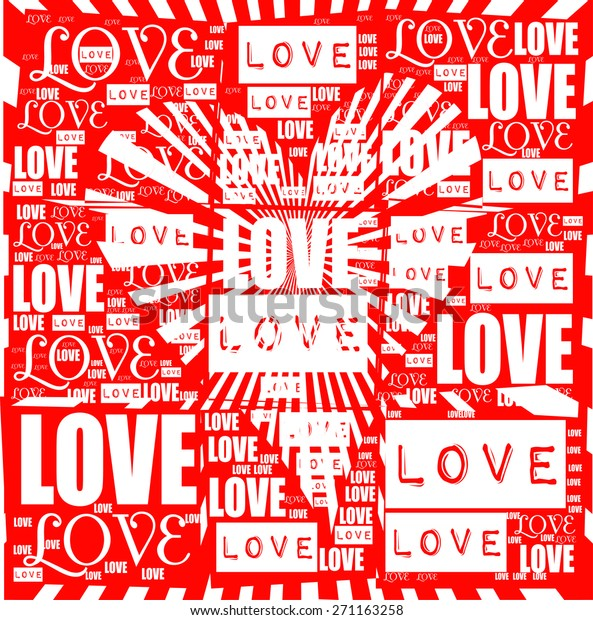Love Heart Love Letter Together Vector Stock Vector (Royalty Free