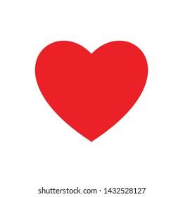 Love Heart Like Symbol Sign Icon Vector Illustration