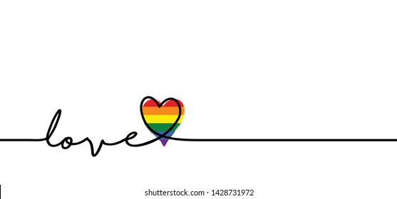 Love heart month or happy singles day. 14 february, valentine, valentines day or for romantic, wedding banner. Happy Pride day ( gay, rainbow, homo, hlbt, lgbt, lhbt, lgbti or lgbtq ) awesome