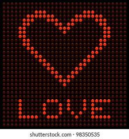 Love Heart on a LED Display