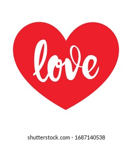 Love Heart Script Vector Art Illustration Love you Mom