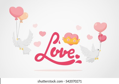 Love with hearts