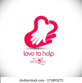 Love to help icon, isolated vector symbol