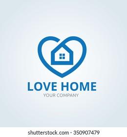 Love home logo template