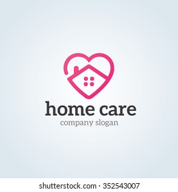 Love Home Logo Template