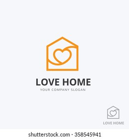 Love home logo template.