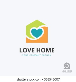Love home real estate logo template.