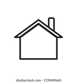 Love Home Stay Home Icon Design Vector Template
