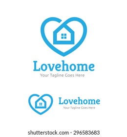 Love Home Vector Logo Template