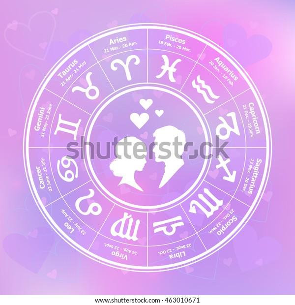 Love Horoscope Circle Stock Vector (Royalty Free) 463010671