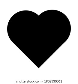 love icon. heart icon on white background.