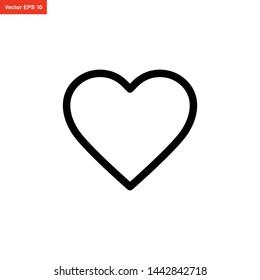 love icon line art style vector design
