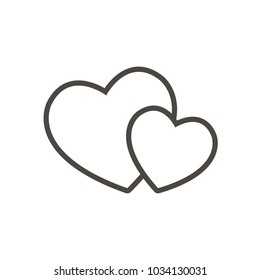 Love Icon Line Vector. Love symbol. Valentine's Day sign, emblem isolated, Flat style for icon, graphic,web design, and logo.