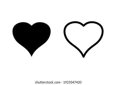 Love icon set. Heart icon vector. Like icon vector.